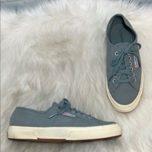 Anthro Superga Gray Canvas Core Classic Sneakers